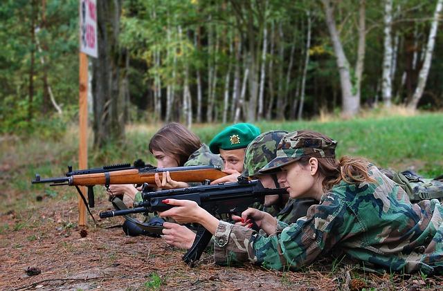střelba v lese